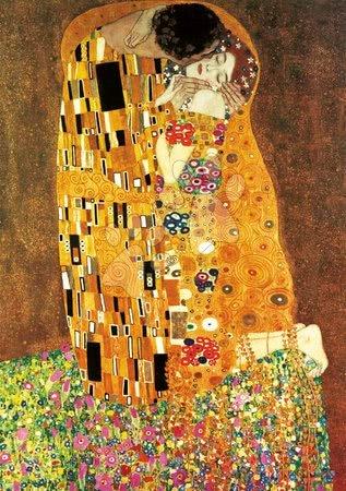Igračke za sve od 10 godina - Puzzle El Beso+La Virgen Gustav Klimt Educa 2x1000 dijelova i Fix ljepilo od 11 godina_1