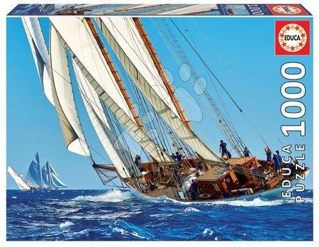 1000 darabos puzzle - Puzzle Yacht Educa 1000 darabos és Fix ragasztó 11 évtől