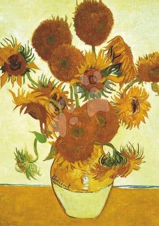 Igračke za sve od 10 godina - Puzzle Los Girasoles+Terraza De café Por La Noche, Vincenta van Gogh Educa 2x1000 dijelova i Fix ljepilo od 11 godina_1