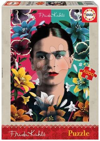 1000 darabos puzzle - Puzzle Frida Kahlo Educa 1000 darabos és Fix ragasztó 11 évtől