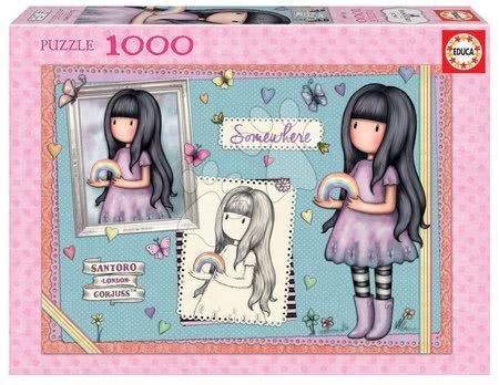 1000 darabos puzzle - Puzzle Santoro Gorjuss Somewhere Educa 1000 darabos és Fix ragasztó 11 évtől