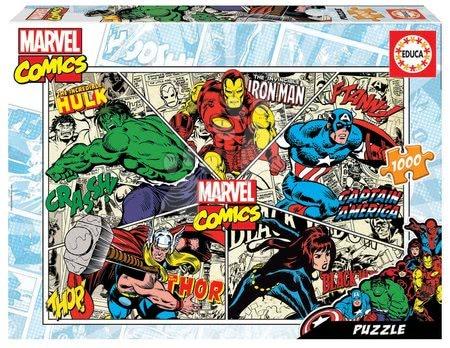 1000 darabos puzzle - Puzzle Marvel Comics Educa 1000 darabos és Fix ragasztó 11 évtől