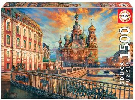 Igračke za sve od 10 godina - Puzzle Saint Petersburg Educa 1500 dijelova i Fix ljepilo od 11 godina