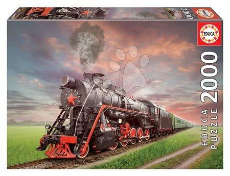 Igračke za sve od 10 godina - Puzzle Steam Train Educa 2000 dijelova i Fix ljepilo od 11 godina