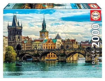 Igračke za sve od 10 godina - Puzzle View of Prague Educa 2000 dijelova i Fix ljepilo od 11 godina