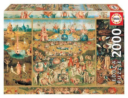 Igračke za sve od 10 godina - Puzzle Garden of Delights Educa 2000 dielov + Fix puzzle lepidlo EDU18505