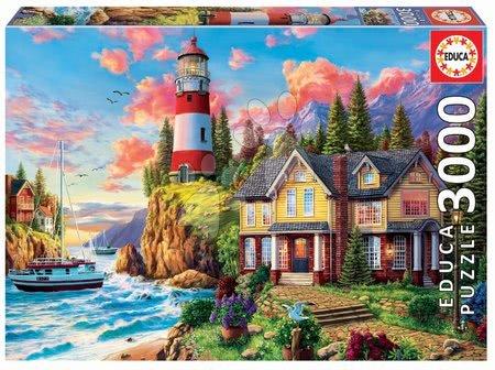 Igračke za sve od 10 godina - Puzzle Lighthouse near the Ocean Educa 3000 dijelova od 11 godina
