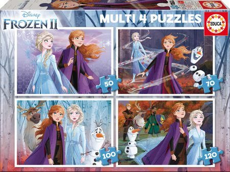 Progresivní dětské puzzle - Puzzle Frozen Disney Educa 50-70-100-120 dílků od 5 let