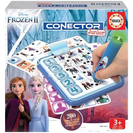 Spoločenské hry - Detská spoločenská hra Disney Frozen 2 Disney Conector junior 40 kariet a 200 otázok a inteligentné pero