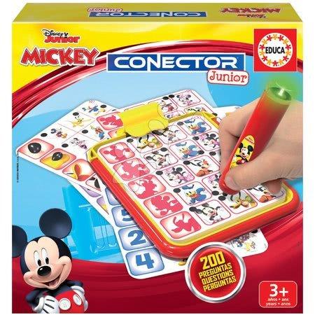 Spoločenské hry - Detská spoločenská hra Mickey and Minnie Disney Conector junior Educa 40 kariet a 200 otázok a inteligentné pero EDU18544