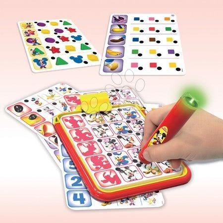 Spoločenské hry - Detská spoločenská hra Mickey and Minnie Disney Conector junior Educa 40 kariet a 200 otázok a inteligentné pero EDU18544_1