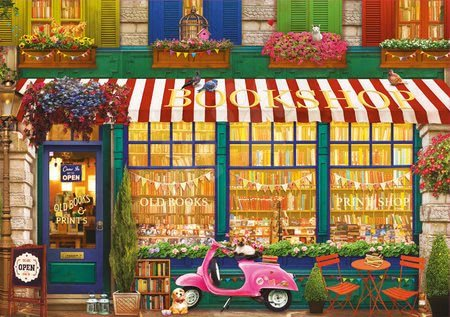 Igračke za sve od 10 godina - Puzzle Vintage Bookshop Educa 4000 dijelova od 11 godina_1