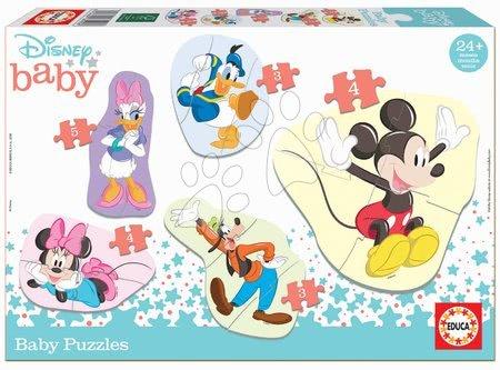 Puzzle pentru copii  - Puzzle pentru cei mici Baby 5 Disney Mickey a jeho priatelia Educa de la 24 de luni