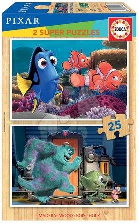 Lesene Disney puzzle - Lesene puzzle Pixar Disney Educa 2x25 delov