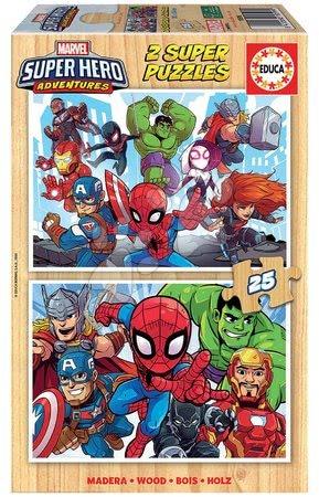 Drevené puzzle Marvel Super Heroe Adventures Educa 2x25 dielov