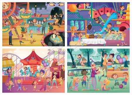 Progresivní dětské puzzle - Puzzle Multi 4 Junior Park atractions+Children's party Educa 20-40-60-80 dílků od 4 let_1