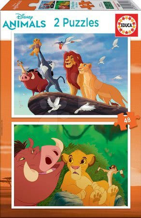 Kralj lavova - Puzzle The Lion King Disney Educa 2x48 dijelova od 4 godine