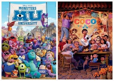 Dětské puzzle od 100–300 dílků - Puzzle Pixar Disney Educa 2 x 100 dílků od 6 let_1
