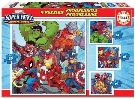 Puzzle Marvel Super Heroe Adventures Progressive 4v1 Educa 12-16-20-25 dielov