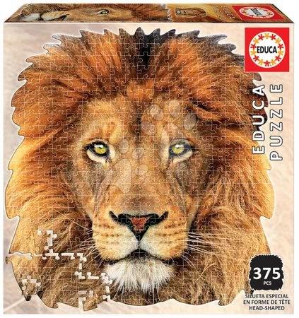 Puzzle 500 dílků - Puzzle Lion face shape Educa 375 dílků a Fix lepidlo od 11 let