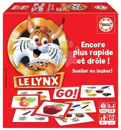 Spoločenské hry - Spoločenská hra Lynx Rýchly ako rys Educa 60 obrázkov pre najmenších francúzsky od 4 rokov