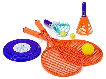 Kültéri játékok - Nagy tenisz készlet Sport Écoiffier frizbivel és labdakilövő játékkal, 55 cm 18 hó-tól