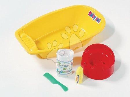 Vanička na koupání panenky Dohány se 4 doplňky žlutá