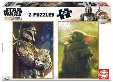 Dětské puzzle od 100–300 dílků - Puzzle Baby Yoda The Mandalorian Educa 2*100 dílků od 6 let
