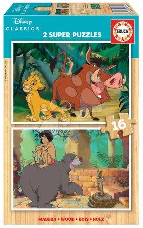 Lesene Disney puzzle - Lesene puzzle Disney Classics Jungle Book Educa 2x16 delčkov