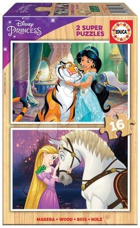 Drevené puzzle Princess Disney Educa 2x16 dielov