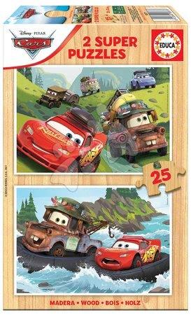 Drevené puzzle Cars 3 Educa 2x25 dielov od 4 rokov