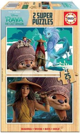 Lesene Disney puzzle - Drevené puzzle Raya and the Last Dragon Educa 2x25 dielov EDU18878