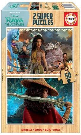 Lesene Disney puzzle - Lesene puzzle Raya and the Last Dragon Educa 2x50 delov