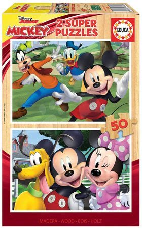Lesene Disney puzzle - Lesene puzzle Mickey&Friends Educa 2x50 delčkov