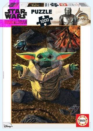 1000 darabos puzzle - Puzzle Baby Yoda The Mandalorian Educa 1000 darabos és Fix ragasztó 11 évtől