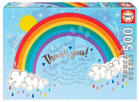 Puzzle 500 dílků - Puzzle Rainbow Thank you Educa 500 dílků a Fix lepidlo od 11 let