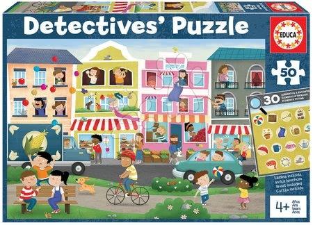Dětské puzzle do 100 dílků - Puzzle město Detectives Busy Town Educa hledej 30 předmětů 50dílné od 4 let