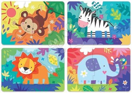 Progresivní dětské puzzle - Puzzle pro nejmenší My Jungle Animals Progressive Educa zvířátka v džungli 5-6-7-8 dílů od 24 měsíců_1