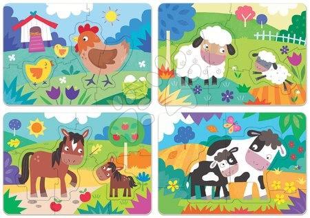 Progresivní dětské puzzle - Puzzle pro nejmenší My Farm Mother&Babies Progressive Educa máma a miminka 5-6-7-8 dílů od 24 měsíců_1