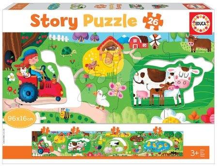 Dětské puzzle do 100 dílků - Puzzle pro nejmenší Story the Farm Educa rozprávka na farme 26 dielov od 3 rokov EDU18900
