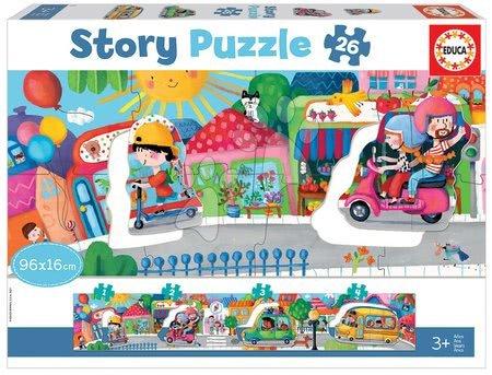 Puzzle pentru copii  - Puzzle pentru cei mici Story Vehicles in the City Educa povestea călătorim prin oraș 26 piese