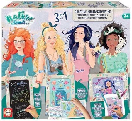 Educa - Kreatívne tvorenie Nature Friends Multiactivity Kit Art EducaKreativní tvoření Nature Friends Multiactivity Kit Art Educa čtyři princezny s výtvarnými pracemi od 7 let