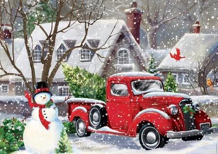 500 delne puzzle - Puzzle Christmas houses Gina Jane Lee Educa 500 delov in Fix lepilo od 11 leta_1