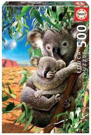Puzzle 500 dílků - Puzzle Koala and Cub Educa 500 dílků a Fix lepidlo v balení od 11 let