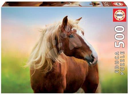 Puzzle 500 dílků - Puzzle Horse at Sunrise Educa 500 dílků a Fix lepidlo v balení od 11 let