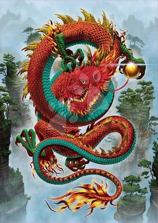 Puzzle 500 dílků - Puzzle Good Fortune Dragon Vincent Hie Educa 500 dílků a Fix lepidlo v balení od 11 let_1