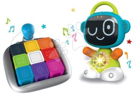 Hračky pro nejmenší - Set interaktivní Robot TIC Smart Smoby s 3 naučnými hrami a chytrá hra kostky