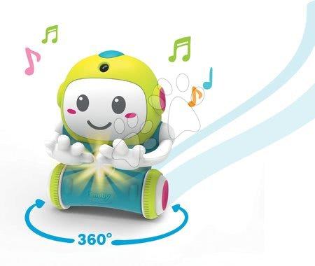 Rozvoj smyslů a motoriky - Interaktivní Robot 1,2,3 Smart Smoby s pohyblivým senzorem a 2 hrami od 18 měsíců (anglicky, francouzsky a německy)