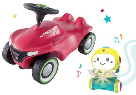 Sety pro nejmenší - Set Interaktivní Robot 1,2,3 Smart Smoby a odrážedlo auto Bobby Car Neo Pink