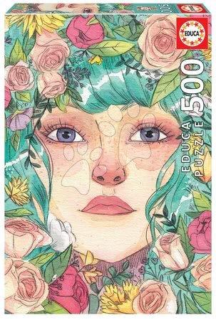 Puzzle 500 dílků - Puzzle Mayo Esther Gili Educa 500 dílků a Fix lepidlo v balení od 11 let
